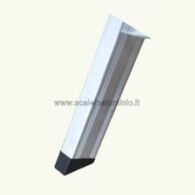 scale in alluminio Kicca 3 gradini piedino PVC