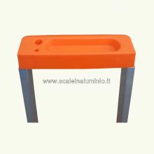 scale in alluminio Kicca 3 gradini vaschetta