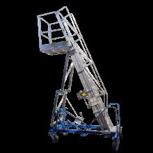 Scale per autobotti in alluminio reclinabili