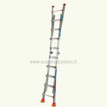 scale in alluminio - Scala Queen 34 con ventose sfilo