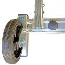 Scale a castello barra stabilizzatrice telescopica e ruote 150 mm