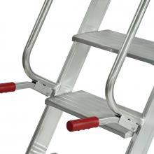 Scale a castello in alluminio mt 4.00 - scala pieghevole 16 gradini maniglie di spostamento