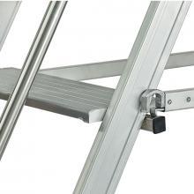Scale a castello in alluminio mt 4.00 - scala pieghevole 16 gradini dispositivi anti chiusur