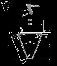 Scale in alluminio Telescopica - Scala Queen 66 disegno tecnico gradino