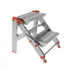 Sgabelli in alluminio pieghevoli mod 205 2 gradini
