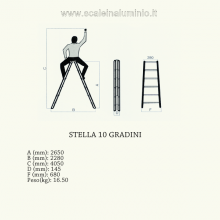 Scala stella 10 gradini scale in alluminio misure
