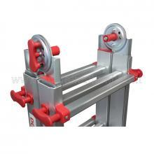 Scala telescopica in alluminio step 4 + 4 particolare
