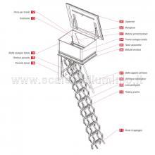Scale retrattili per terrazze e tetti  60 x 100 particolari