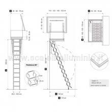 Scale retrattili per terrazze e tetti  60 x 100 disegni