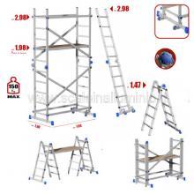 trabattello in alluminio 3 metri altezza lavoro 5 metri