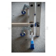 trabattello in alluminio 3 metri altezza particolare ruote