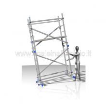 trabattello in alluminio 3 metri altezza trasporto