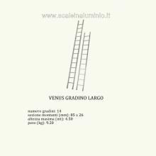 scale in alluminio - Venus semplice 14 gradini