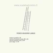 scale in alluminio - Venus semplice 18 gradini