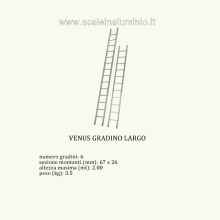 Scale in alluminio -  Venus semplice 6 gradini