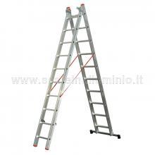 Scala componibile in alluminio professionale 2 rampe 13 gradini