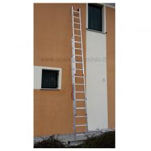 Scala componibile in alluminio professionale 3 rampe 13 gradini sfilo