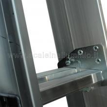 Scala componibile professionale in alluminio 2 rampe 6 gradini sovrapposizione gradino