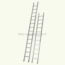Scala in alluminio semplice in appoggio 11 gradini