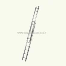 Scala componibile in alluminio professionale in alluminio 2 rampe 8 gradini