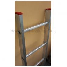 Scala in alluminio semplice in appoggio 8 gradini  dettagli