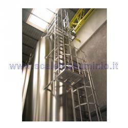 Scale con gabbia di protezione in acciaio