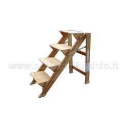 Sgabello 4 gradini in legno faggio verniciato