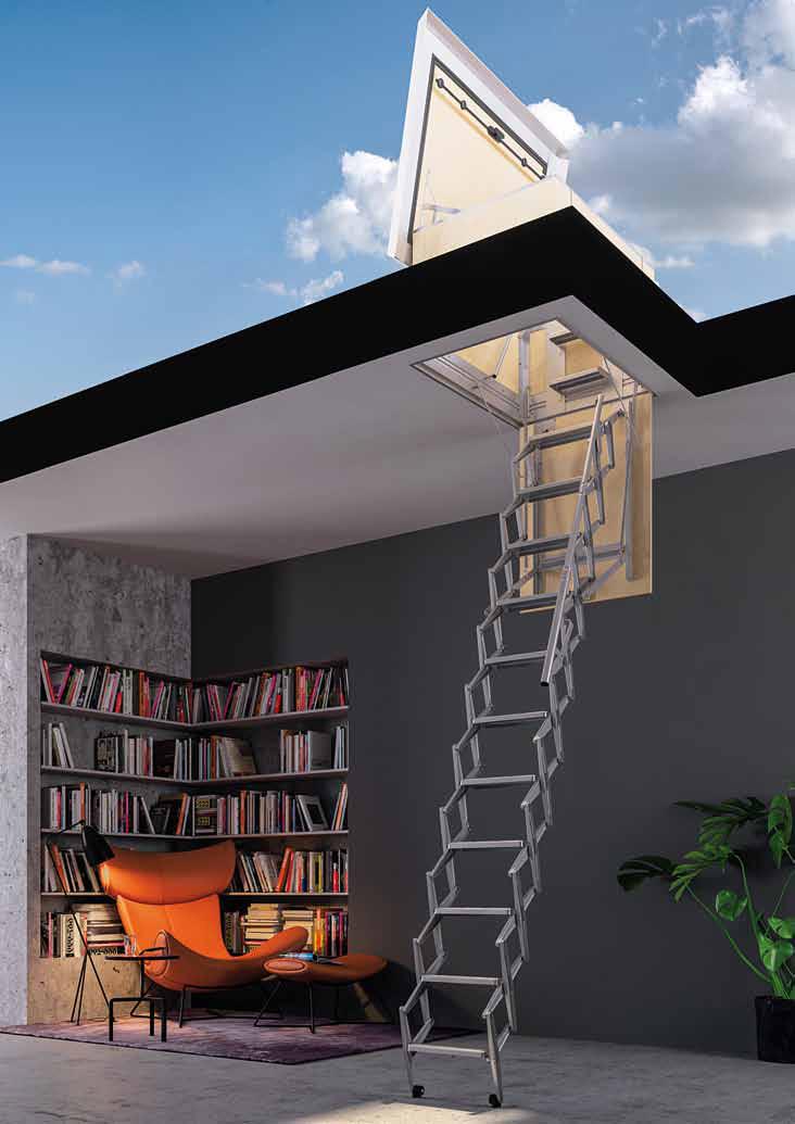 Retrattile a terrazzo - Flat roof access loft laddes Escaliers ...