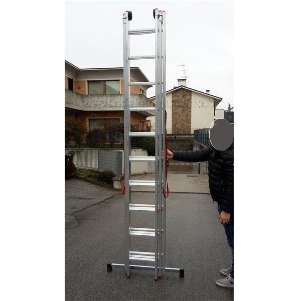 Scala componibile professionale in alluminio 3 rampe 6 gradini for Prezzo alluminio usato al kg 2016