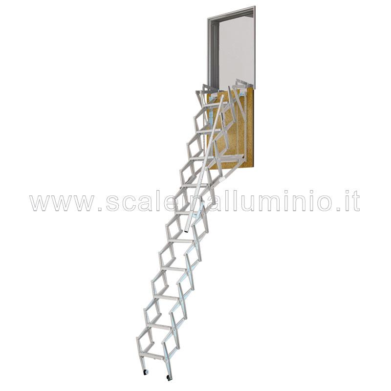 Scale retrattili per soffitte e sottotetti a parete 50 x 80 - Scale retrattili a parete ...